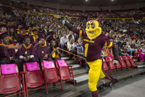 Sparky at the Fall 2017 Fulton Schools Convocation