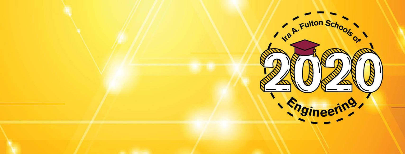 Fulton Schools Grad Stamp on gold sparkle facebook cover image
