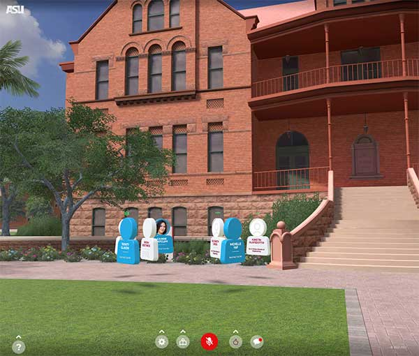 screenshot of a group chatting in the virtual ceremony